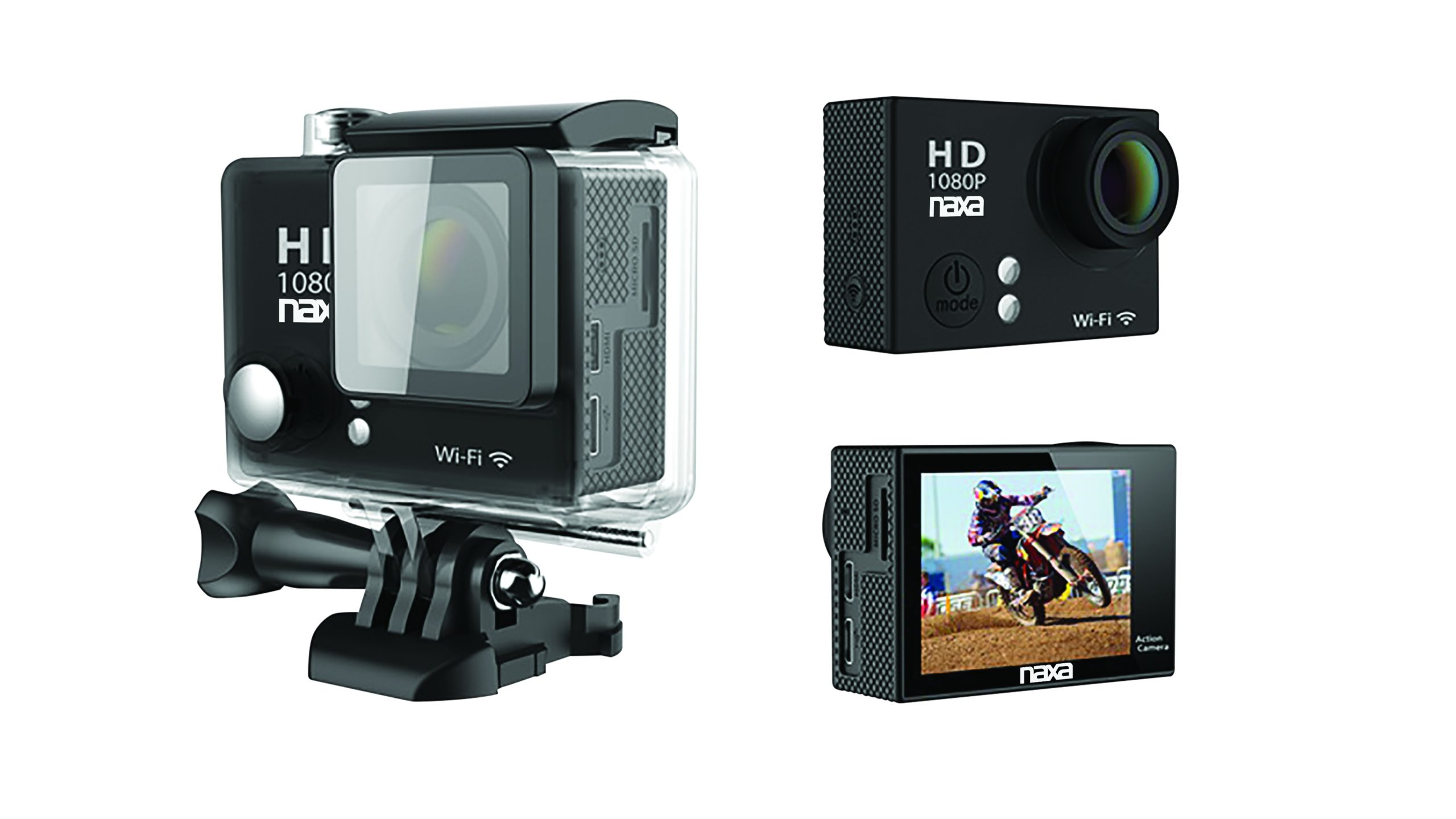 Waterproof HD 1080p Action Cam with Wi-Fi