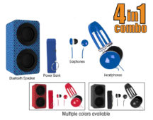Portable Bluetooth® Stereo Speakers Entertainment Pack
