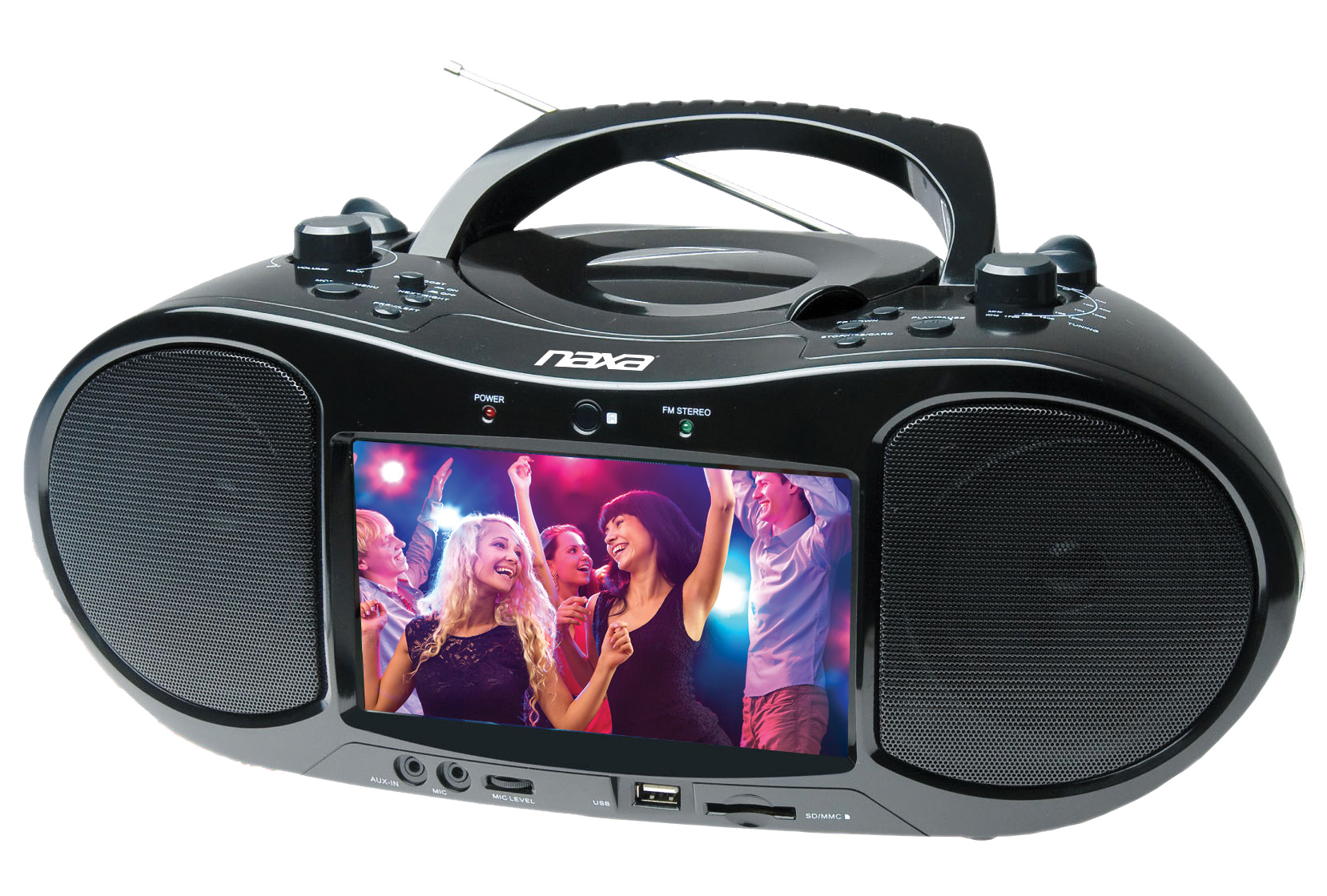 7″ Bluetooth® DVD Boombox and TV