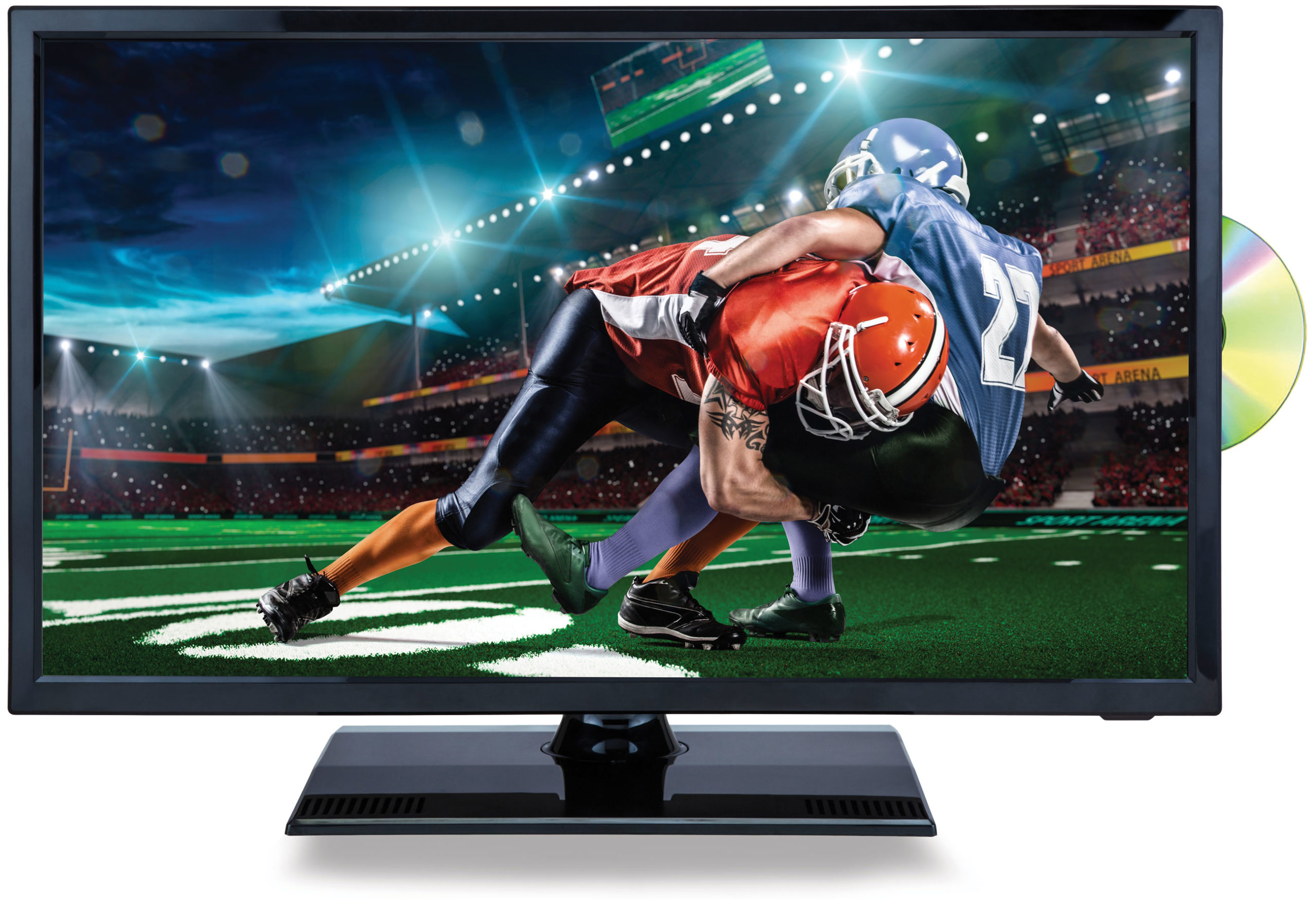 22″ Class LED TV and DVD/Media Player + Car Package