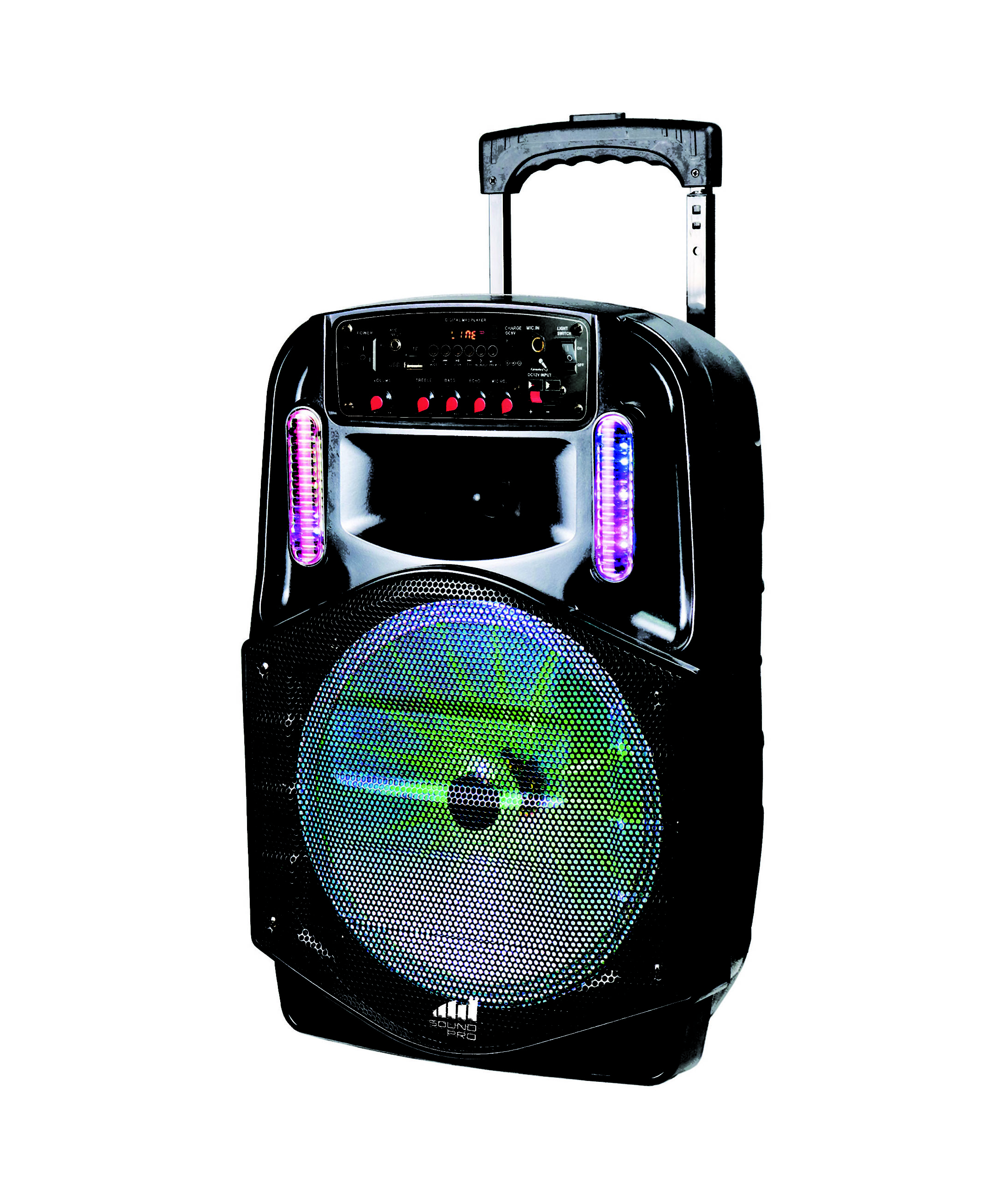 Portable 12″ Bluetooth® Party Speaker with Disco Lights