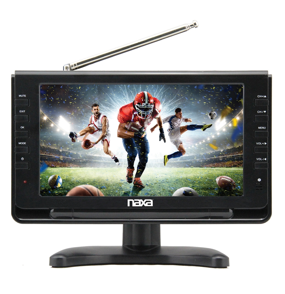 """10"""" Portable TV & Digital Multimedia Player with Car Package"""
