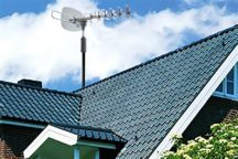 High Powered Amplified Motorized Outdoor Antenna Suitable for ATSC Digital Television