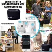 Wi-Fi & Bluetooth® Multi-Room Speaker with Amazon Alexa Voice Control