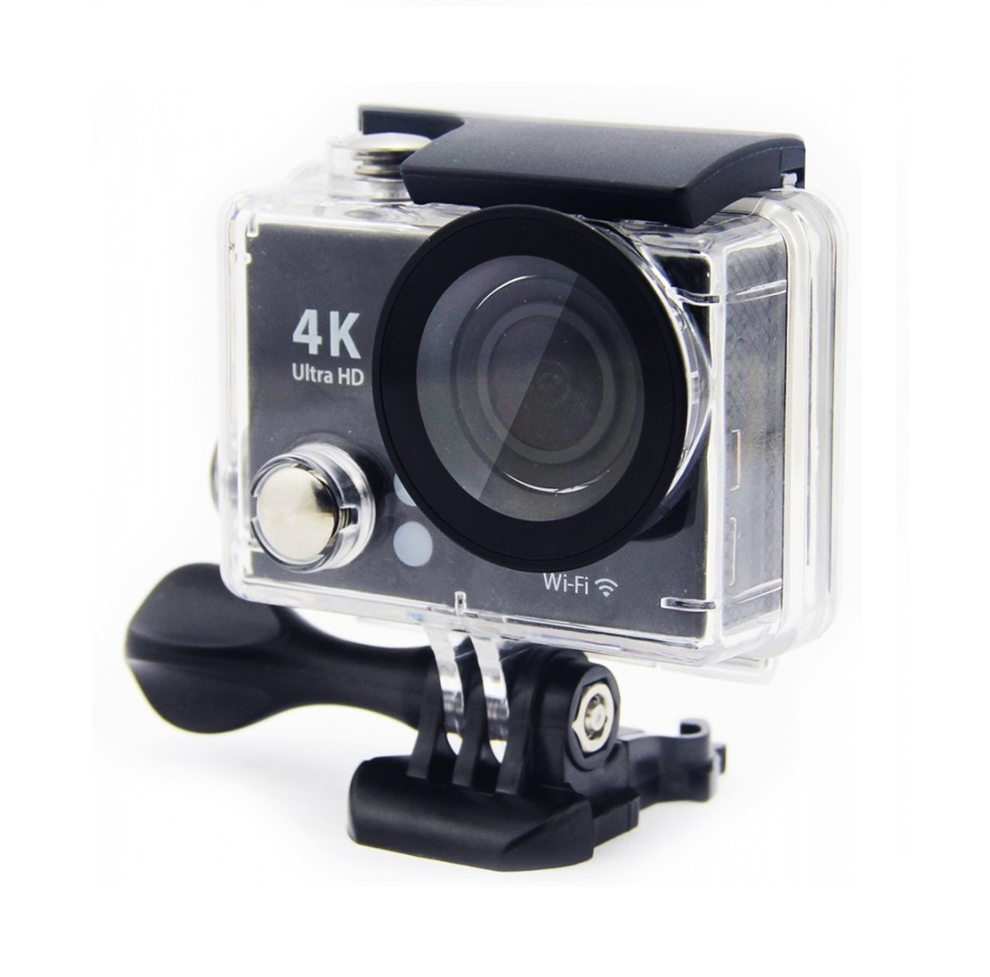 Waterproof 4K Action Camera with Full Accessory Kit