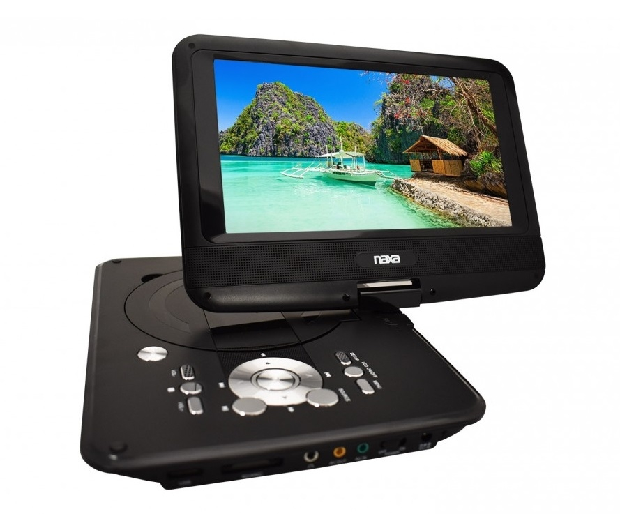 9″ TFT LCD Swivel Screen Portable DVD Player with USB/SD/MMC Inputs