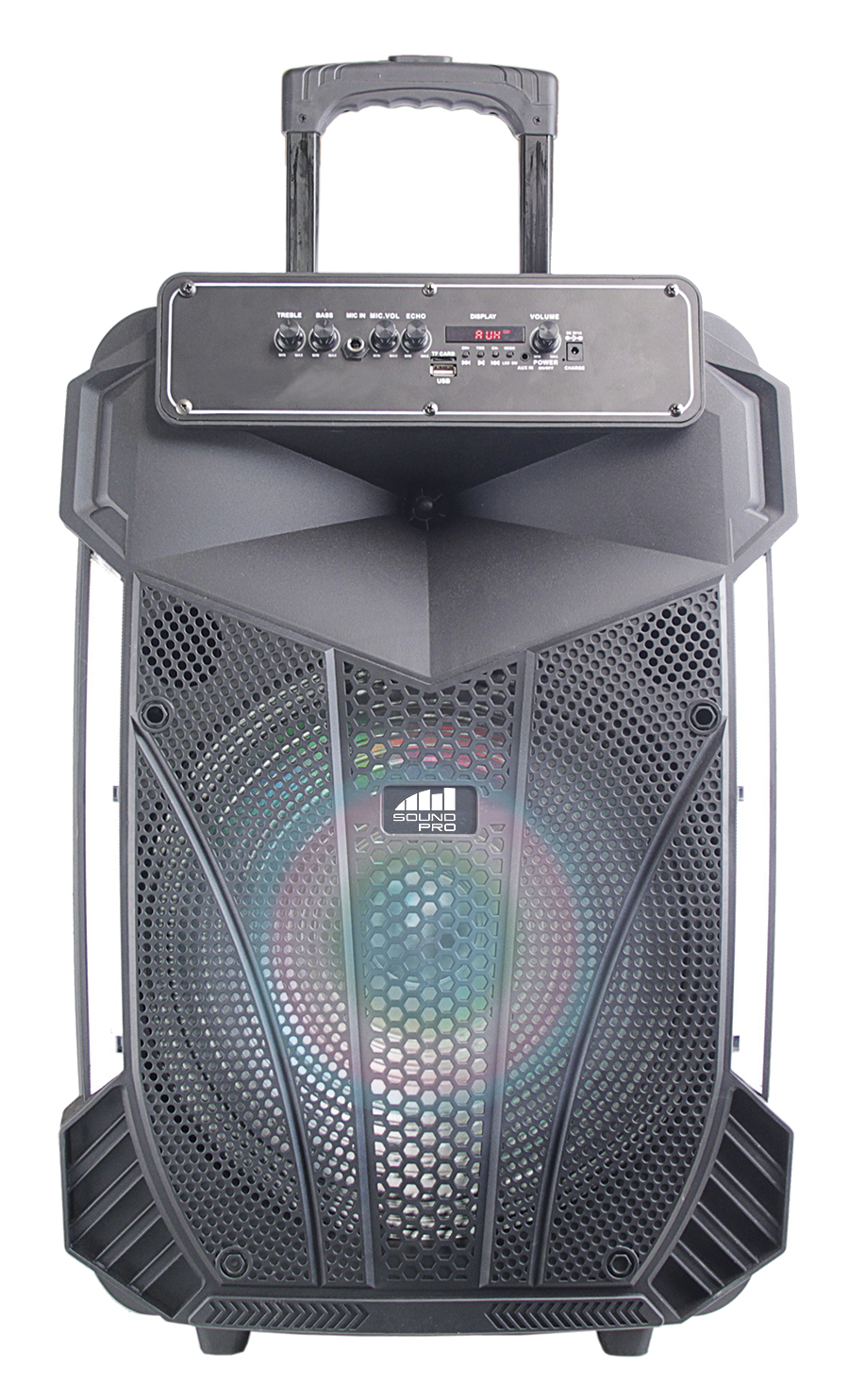 Portable 15″ Bluetooth® Party Speaker with Disco Light