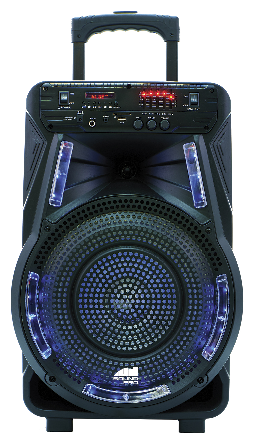 Portable 12″ Bluetooth® Party Speaker with Disco Light