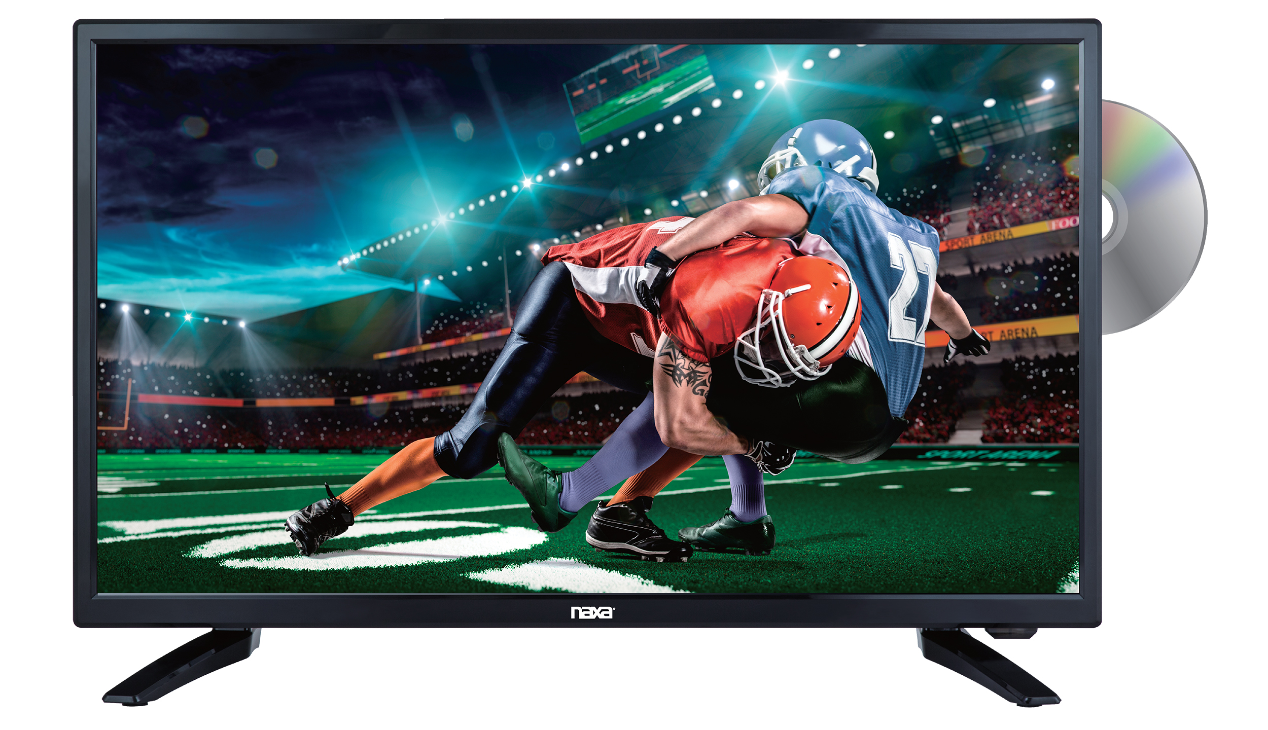 24″ Class LED TV and DVD/Media Player + Car Package