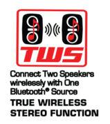 Portable Dual 8″ Bluetooth® Blaze Party Speakers with Full Glow Disco Lights (True Wireless Blazing Party Rocker)